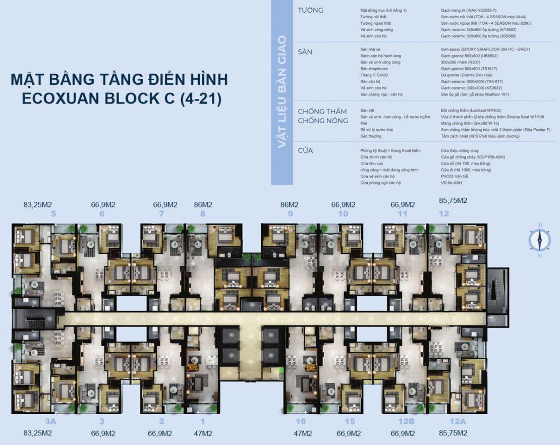 04.0 Mặt bằng dự án Eco Xuân residence - Công ty Cổ phần Đầu tư Kinh Doanh và Kinh doanh Bất động sản Happy Homes