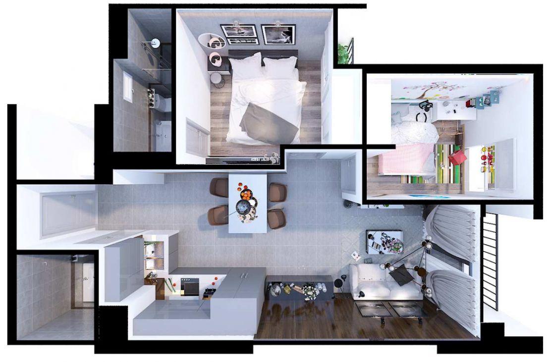 04.2 Mặt bằng dự án Eco Xuân residence - Công ty Cổ phần Đầu tư Kinh Doanh và Kinh doanh Bất động sản Happy Homes