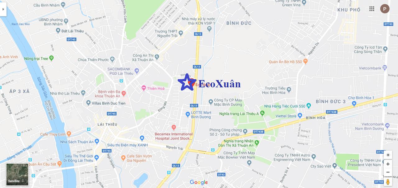 Vị trí dự án Eco Xuân Residence