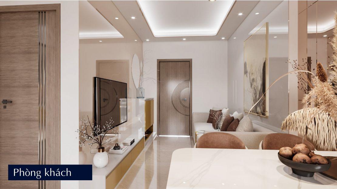 01 Phòng khách căn hộ tiêu chuẩn - happy homes