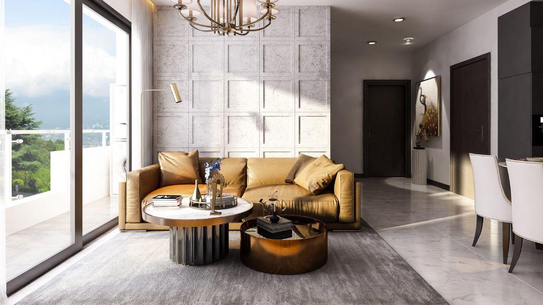 02 Phòng khách căn 2 phòng ngủ Tecco Felice Homes - Happy Homes